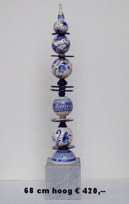 Delftsblauw stapeling  65 cm hoog