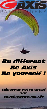 Parapentes de la gamme Axis