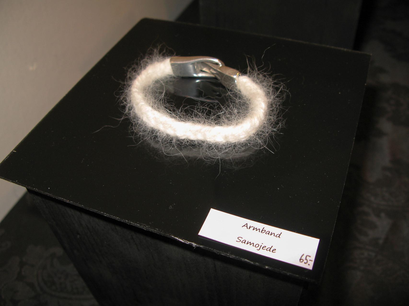 Armband aus Samojedenzopf mit Magnetverschluss (gesponnen)