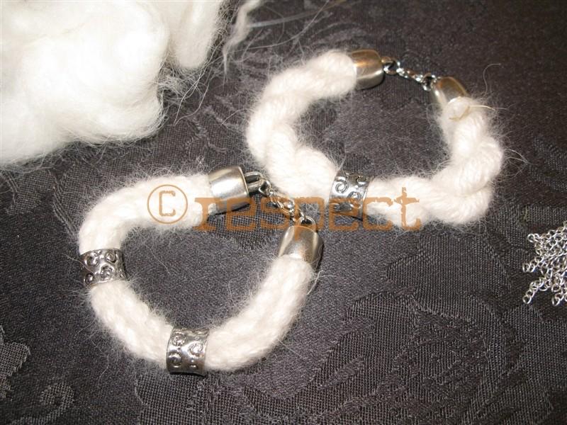 armbänder aus samojedenwolle