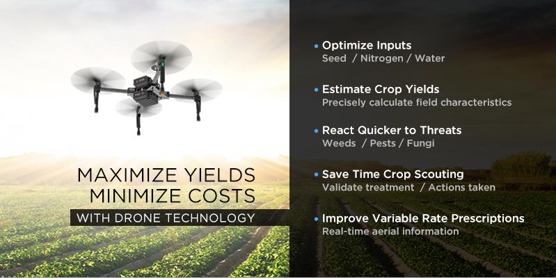 Matrice 100 la aeronave ideal para la Agricultura de precisión con drones