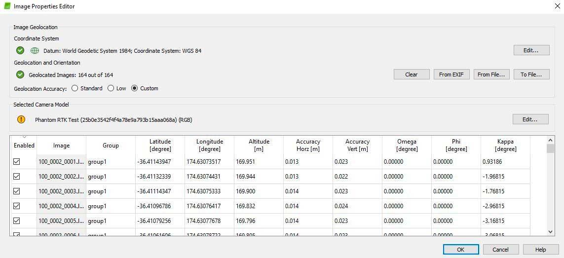 El software Pix4D Mapper reconoce automáticamente la información del dron Phantom 4 RTK y proporciona la información de procesamiento más rápidamente que otros softwares