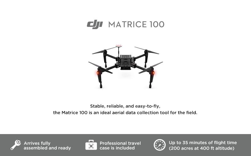 Matrice 100 Smarter Farming Package totalmente equipado para una agricultura inteligente