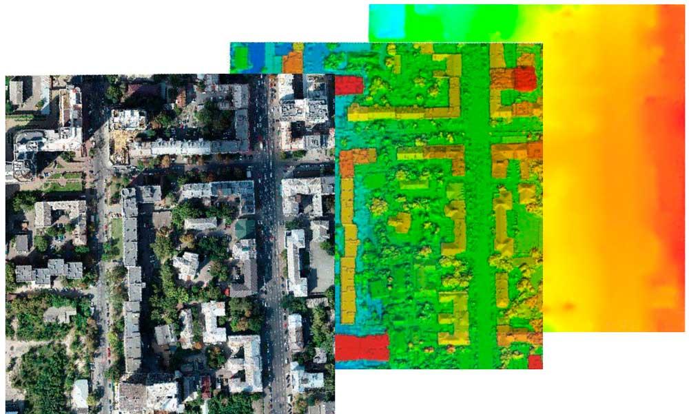 Phantom 4 RTK  para Modelos digitales de terreno, Modelos digitales de superficie, Nube de puntos, Curvas de nivel, Modelado BIM, Volumetría, cálculo de masa, Modelos 3D, Ortomosaicos
