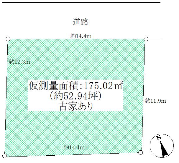土地 狛江市和泉本町2丁目 100.44㎡(約30.38坪) 区画図