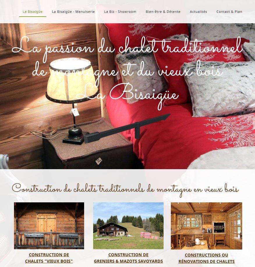 """Site internet """"La Bisaigüe"""" - Saint-Gervais-les-Bains."""