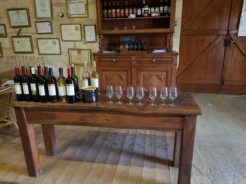 Die Weinprobe kann beginnen