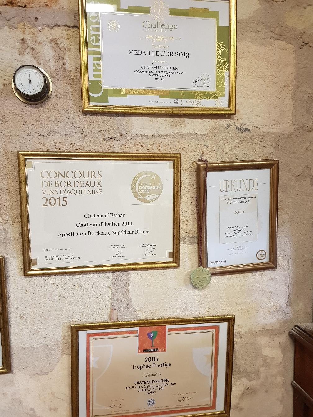 Château d'esther hat schon viele Auszeichnungen. Seit 2013 sogar das Demeterdiplom
