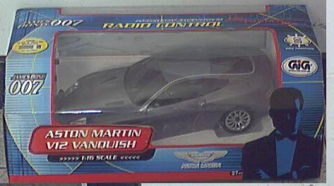 Gig Nikko auto di James Bond Aston Martinn V12 Vanquish radiocomandata nuova in scatola.
