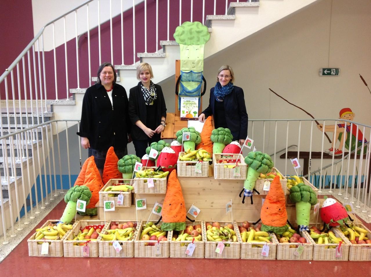 Unsere provisorische Leiterin Elke Kirchweger, Anna Gruber und Ulrike Zallinger