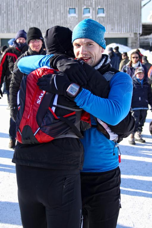 Im Ziel mit Lars Foto:Rolf B.Röper