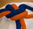 Corda laranja-azul