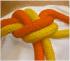 Corda amarela-laranja