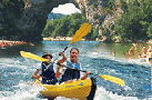 Discesa in canoa sull'Ardèche 2017