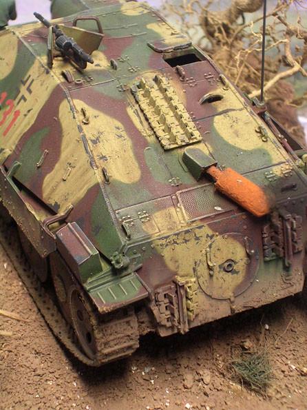 Der Skoda-Auspufftopf der Endausfertigung-beachte dazu die Jagdpanzer 38 unter EDW Fahrzeugen.