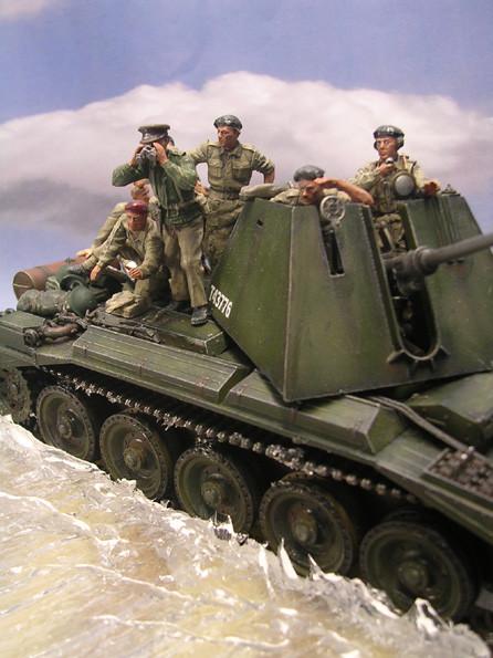 Besatzung und aufsitzende Infanteristen von MiniArt.