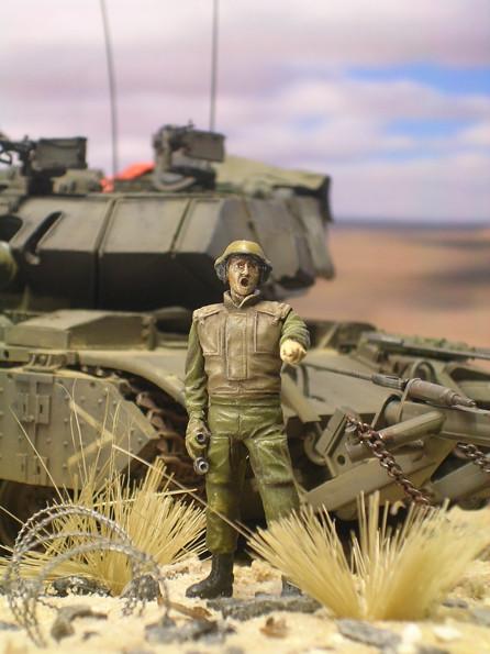Der IDF-Panzerkommandant von Legend - schlicht, aber ein guter Größenvergleich zum Fahrzeug.