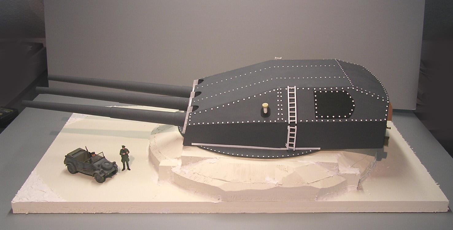 Entfernungsmesser Panzer : Gneisenau turm norwegen panzer bau diorama militär
