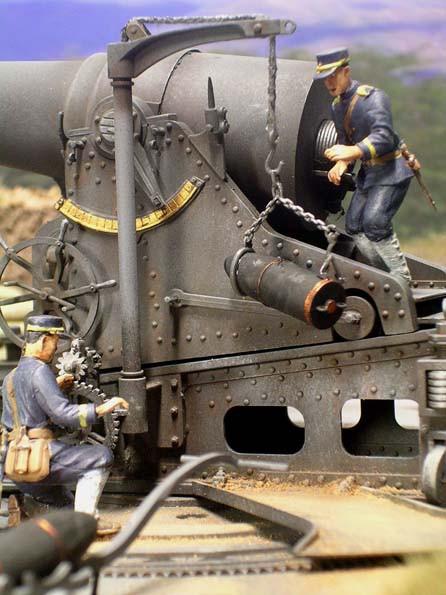 Kupferführungsringe graben sich beim Schuß in die Rohrzüge ein und sorgen für den Drall im Flug.