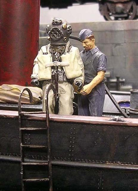 Berufstaucher waren zu dieser Zeit wahre Schwerarbeiter!