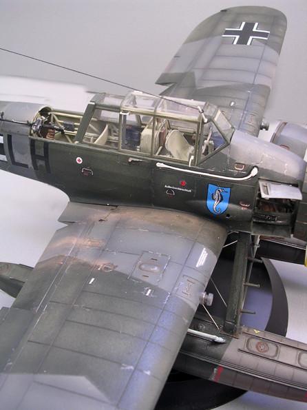 RLM 72 und 73 prägen das Splintertarnmuster auf den Tragflächen und Rumpfseiten.