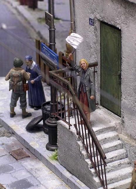 Auch Treppenaufgänge sollte man mit Figuren besetzen.