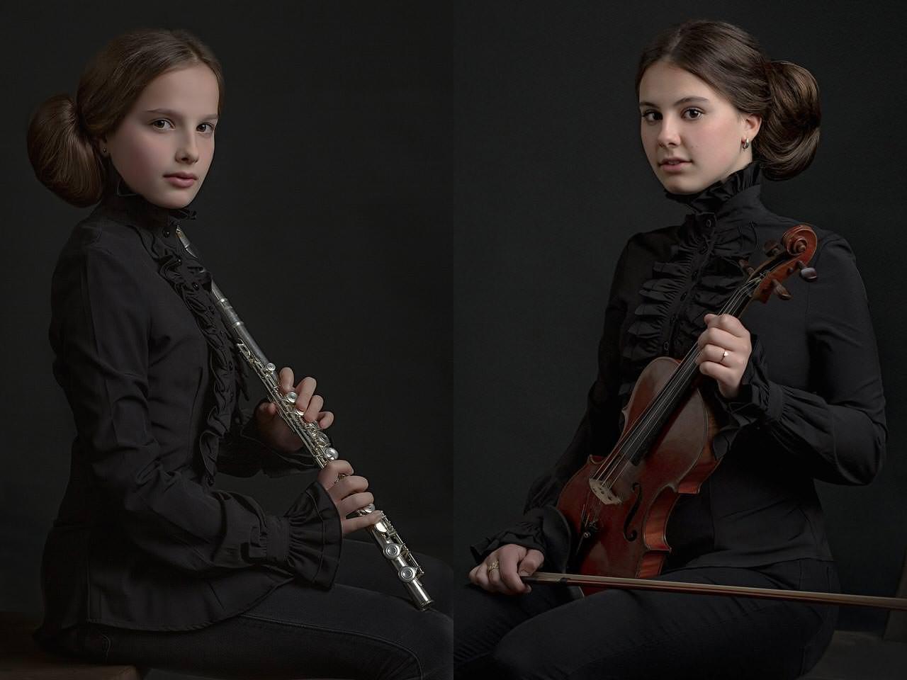 Claire ( dwarsfluit) & Marie ( viool)