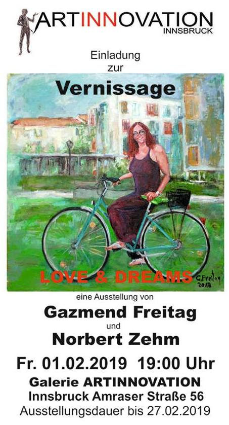 Gazmend Freitag, Norbert Zehm: Vernissage, 01.02.2019, Galerie ARTINNOVATION Innsbruck