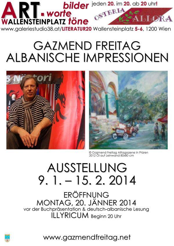 """Gazmend Freitag, Plakate von """"Albanische Impressionen"""""""