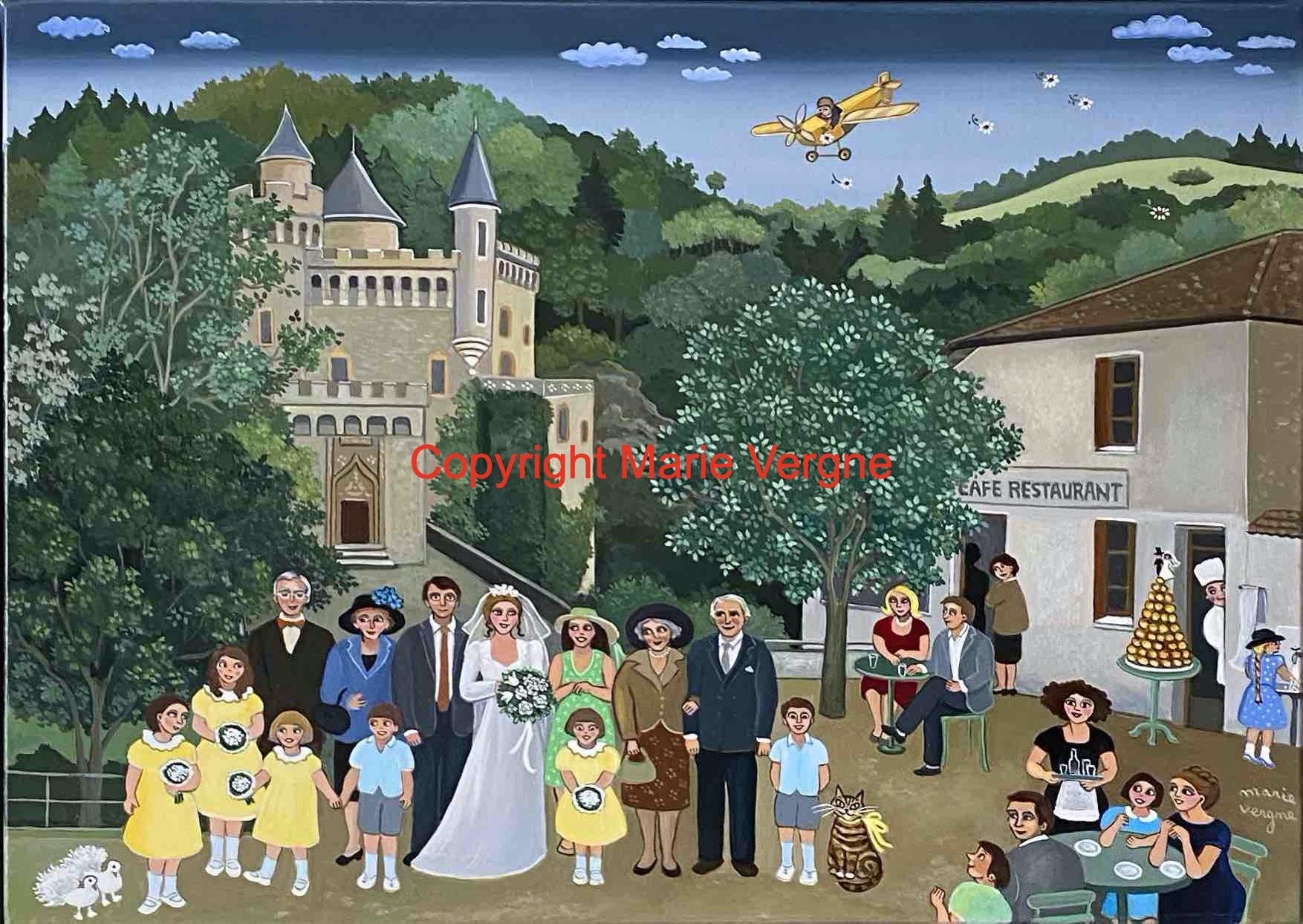 Mariage au Château de La Roche    8 P  46cm x 33cm