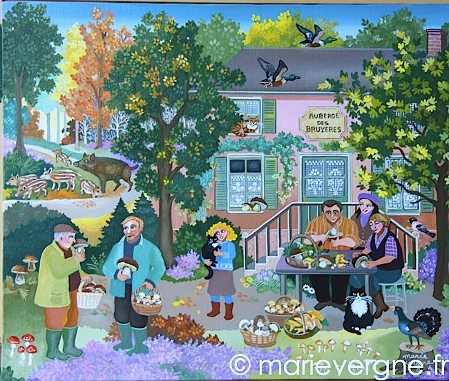 L'Auberge des bruyères - Acrylique - Format 55 x 46 - Prix sur demande