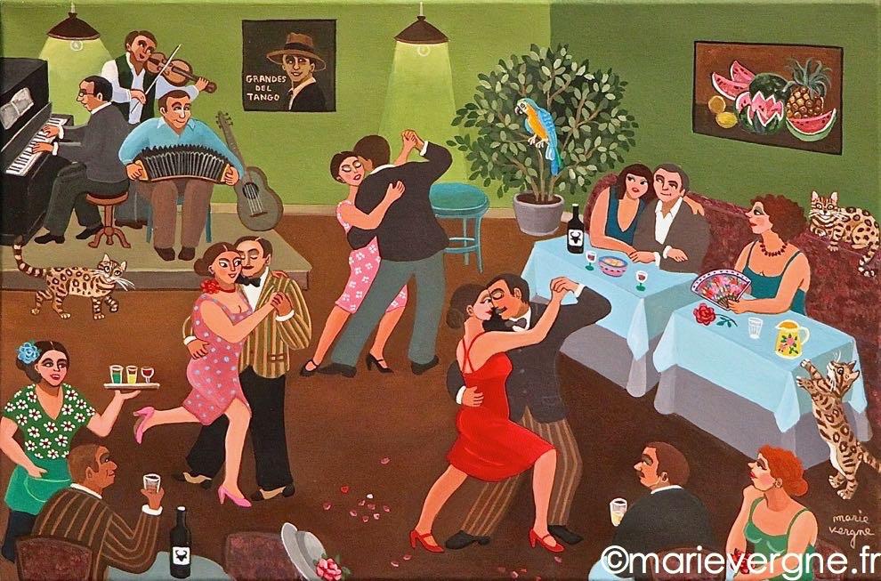 Le tango du perroquet    Format  6 P  41cm x 27cm