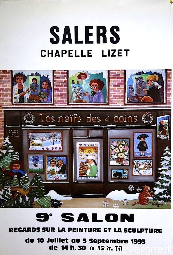 Regards sur la peinture et la sculpture - 9e salon - Salers - 10 juillet / 5 septembre 1993