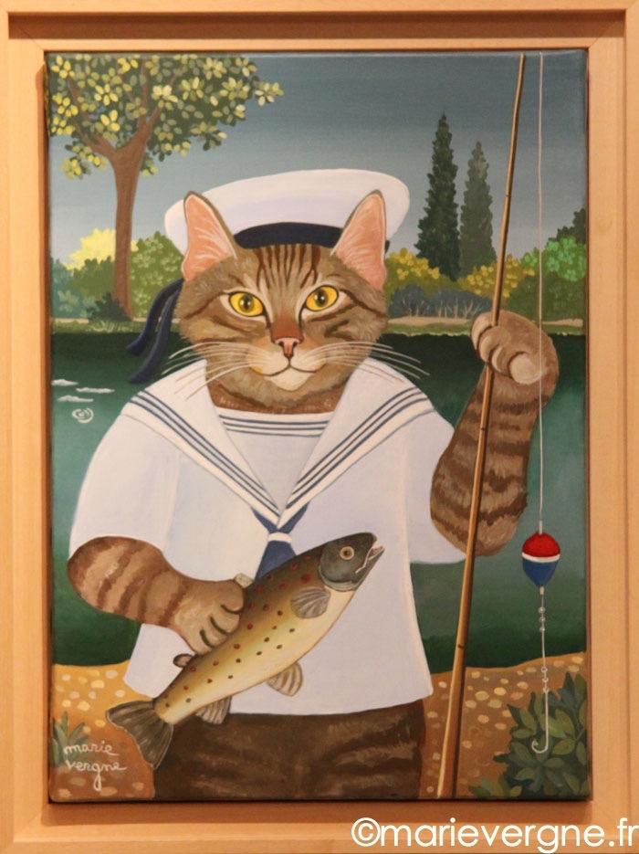 Le Chat pêcheur    Format  8 P  46cm x 33cm