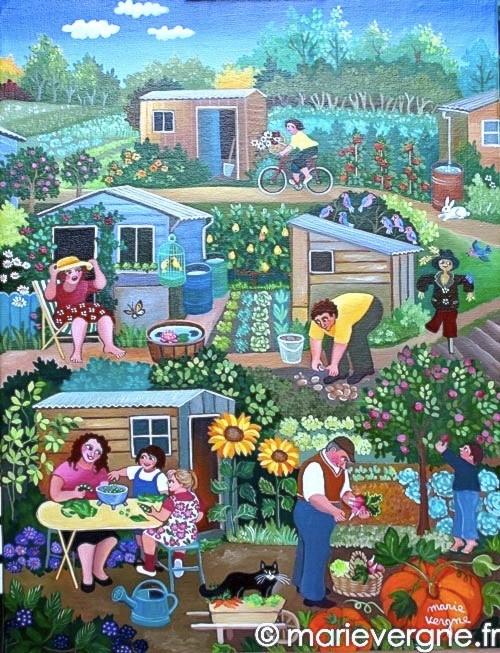 A chacun son jardin - Acrylique - Format 61 x 46 - Prix sur demande