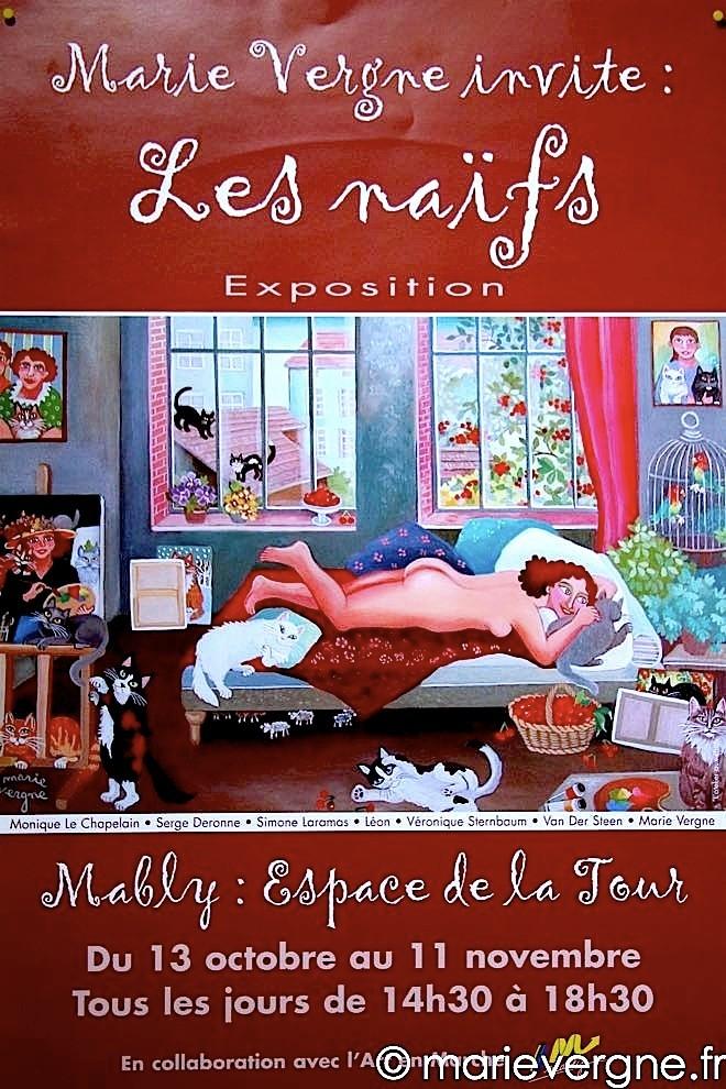 """Marie Vergne invite : les naïfs"" - Mably - 13 octobre / 11 novembre 2001"
