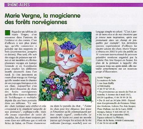 Marie Vergne, la magicienne des forêts norvégiennes - Côté Chat