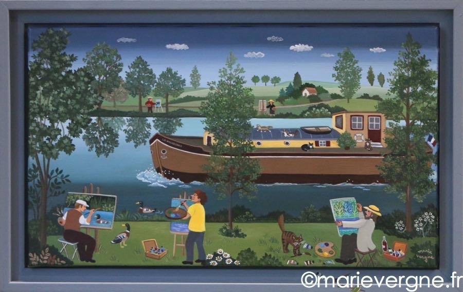 Les peintres du canal    Format  8 M  48cm x 27cm