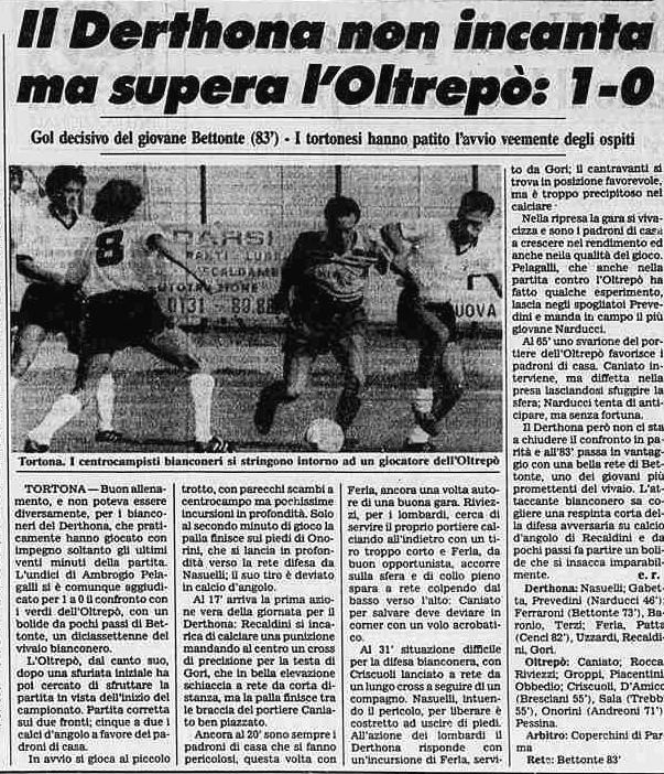 1988 COPPA ITALIA DERTHONA-OLTREPO 1-0