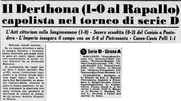 1959-60 DERTHONA-RAPALLO 1-0