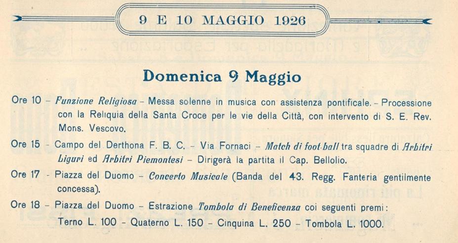 Santa Croce a Tortona 1926