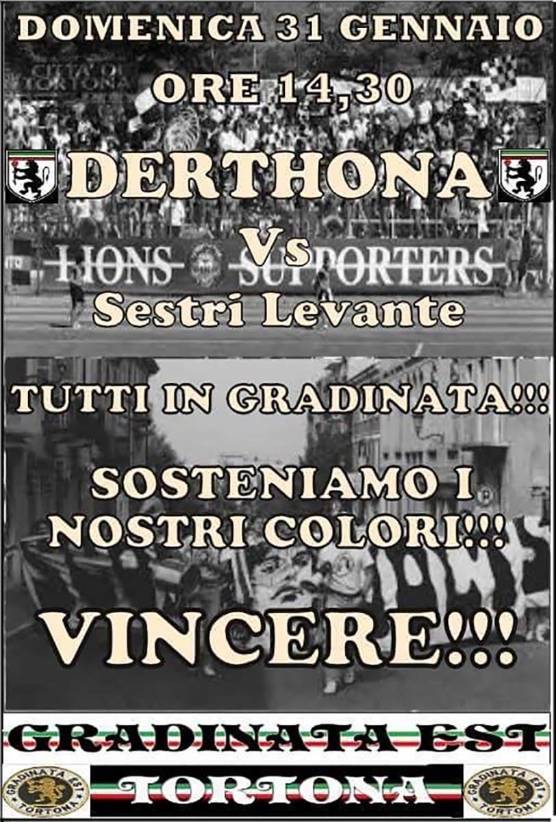 2015-16 DERTHONA - SESTRI LEVANTE LOCANDINA GET