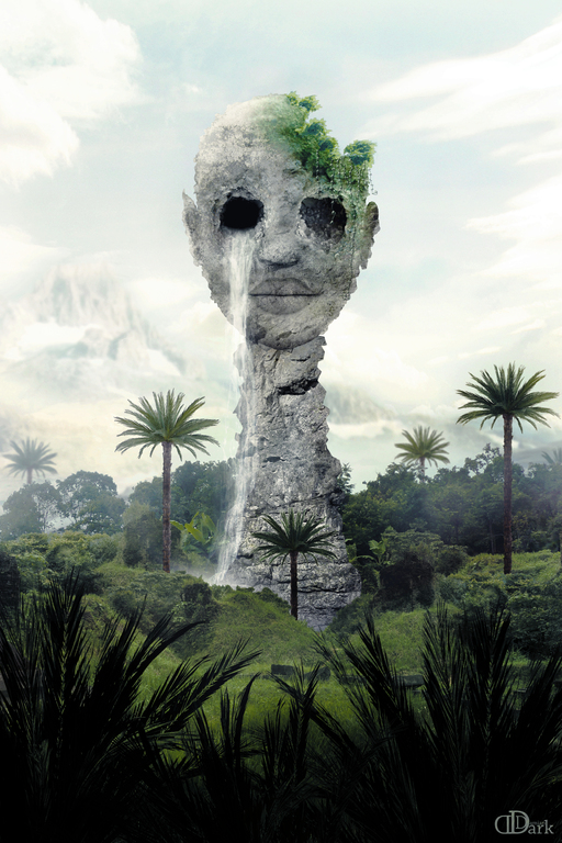 the rock head in the Jungle