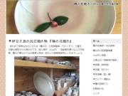 椿の花焼き|伊豆大島の民芸焼き物