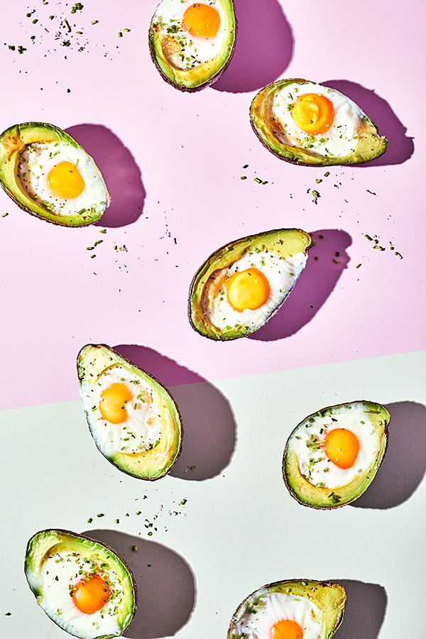 gefüllte Avocado mit Ei