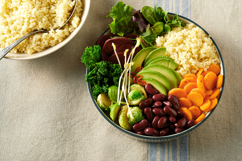 vegane Bowls mit Avocado Trendige Blogfotografie aus dem Fotostudio Team Reiter