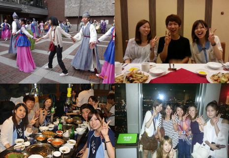 2012年9月のホームステイ、韓国人ホスト家庭との交流会