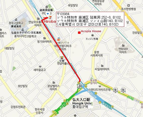 詳しい道案内は上の地図をクリックして下さい。