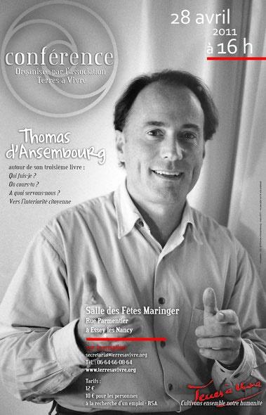 Thomas d'Ansembourg - Association Terres à Vivre
