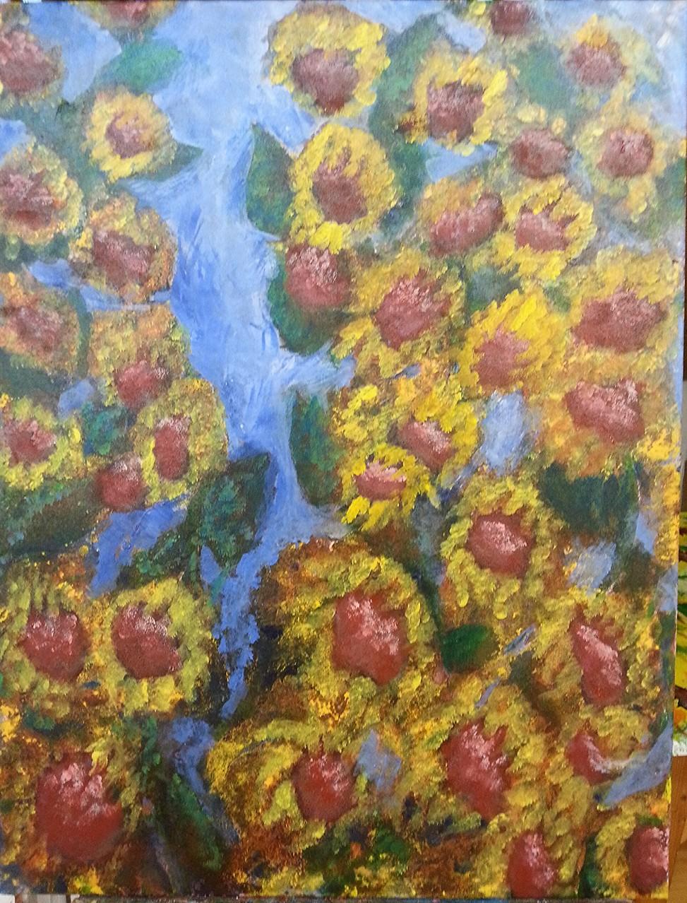 """""""Sonnenblumen im Mondlicht"""""""